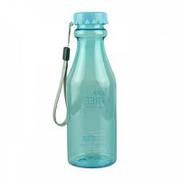 Спортивная функциональная бутылка для воды 550 мл. BPA Free,  Blue