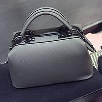 Стильна каркасна сумка саквояж для модних дівчат, фото 3