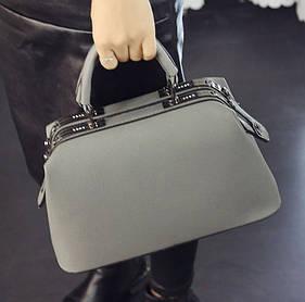 Стильная каркасная сумка саквояж для модных девушек
