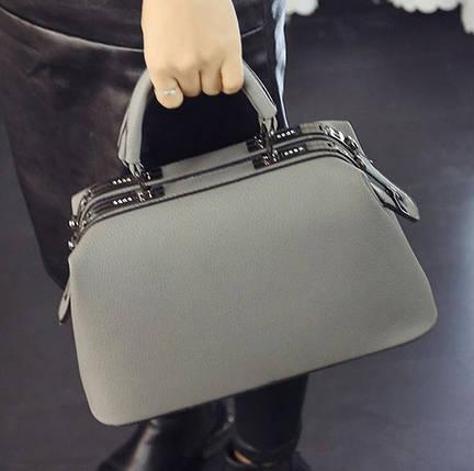 Стильна каркасна сумка саквояж для модних дівчат, фото 2