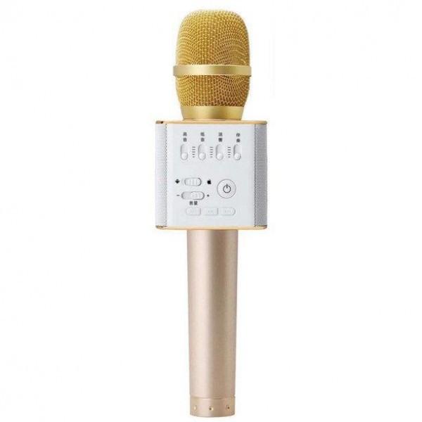 Беспроводной Bluetooth микрофон для караоке Music+ Q9 Gold с чехлом (45121)