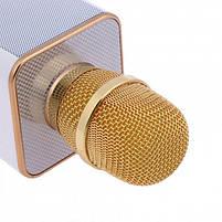 Беспроводной Bluetooth микрофон для караоке Music+ Q9 Gold с чехлом (45121), фото 4