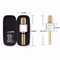 Беспроводной Bluetooth микрофон для караоке Music+ Q9 Gold с чехлом (45121), фото 5