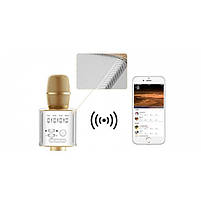 Беспроводной Bluetooth микрофон для караоке Music+ Q9 Gold с чехлом (45121), фото 7