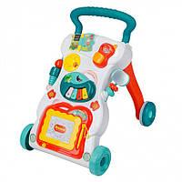 Детский игровой центр, музыкальная каталка, развивающая игрушка ходунки Huanger HE0801 (музыка, свет)