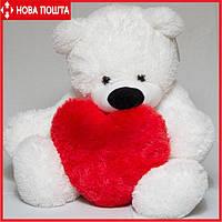 Белый Медведь 77 см с Сердцем 40 см, фото 1