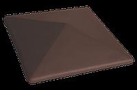 Клинкерная крышка на забор KingKlinker Коричневый натура (03) 445х445х90, фото 1