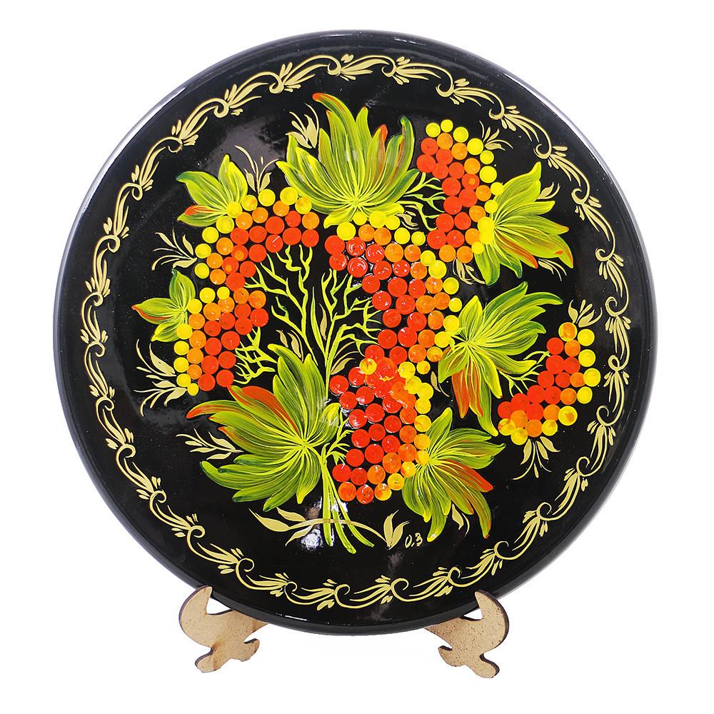 Калина Тарелка Д250 деревянная декоративная тарелка петриковка диаметр 25 см