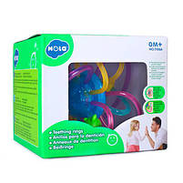 Детская погремушка-прорезыватель для зубов Hola Toys  (1106A), фото 2