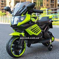Детский мотоцикл M 4116-5 на аккумуляторе, зеленый