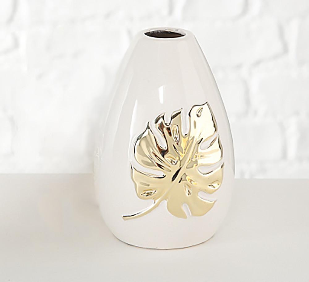 Декоративная ваза золотая керамика L13см 1016818