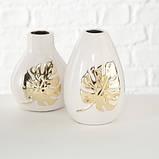 Декоративная ваза золотая керамика L13см 1016818, фото 3