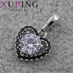 Кулон (подвеска) Xuping медицинское золото Silver - 1023628243