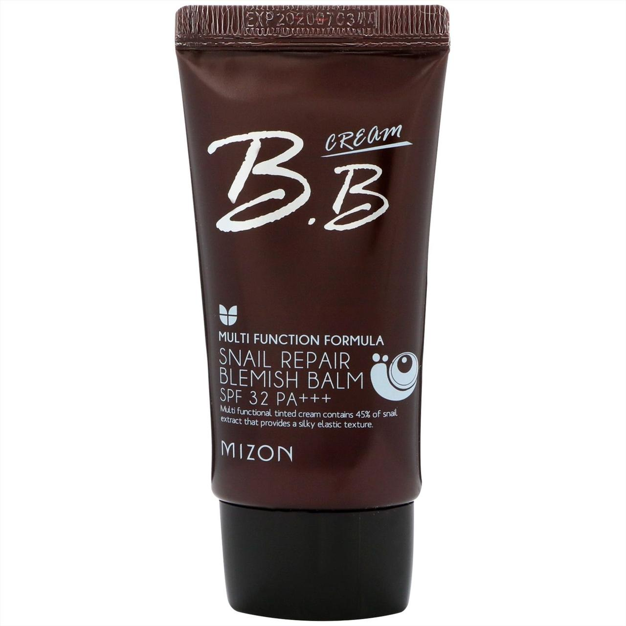 Солнцезащитный BB-крем Mizon Snail Repair BB Cream 01 rose beige