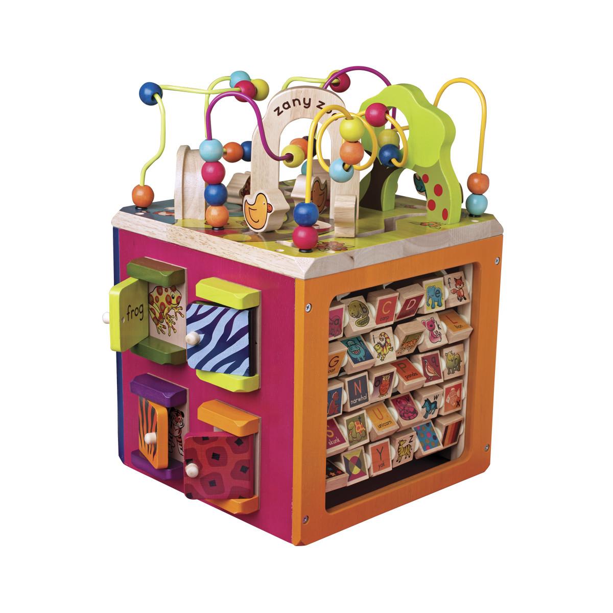 Развивающая деревянная игрушка - ЗОО-КУБ (размер 34х30х45 см), BX1004X