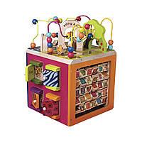 Развивающая деревянная игрушка - ЗОО-КУБ (размер 34х30х45 см), BX1004X, фото 1