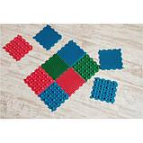 Детский массажный коврик пазл для стоп (ортопедический, резиновый) Onhillsport 10шт (MS-1209-4), фото 2