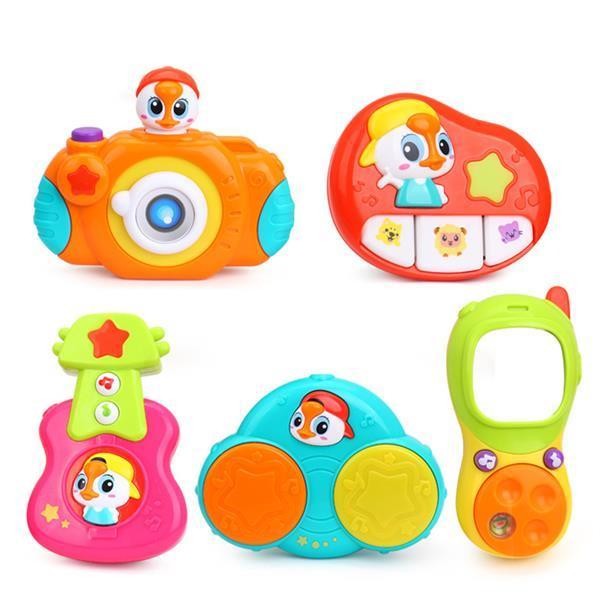 Детский музыкальный набор подвесных игрушек Huile Toys 5 шт. (3111)
