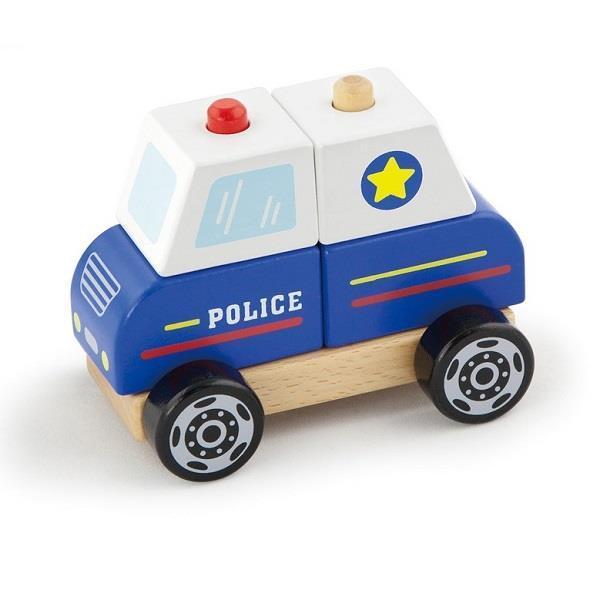 """Деревянная детская игрушка Viga Toys """"Полицейская машина"""" (50201)"""