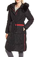 Женский стильный черный водоотталкивающий пуховик с капюшоном  NVLT (Размер - S), фото 1