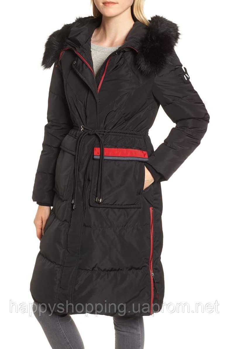 Женский стильный черный водоотталкивающий пуховик с капюшоном  NVLT (Размер - S)