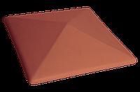 Клинкерная крышка на забор KingKlinker Рубиновый красный (01) 445х445х90