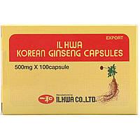 Ilhwa, Корейский женьшень, 500 мг, 100 капсул