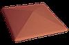 Клинкерная крышка на забор KingKlinker Рубиновый красный (01) 445х585х106