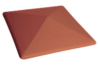 Клинкерная крышка на забор KingKlinker Рубиновый красный (01) 310х310х80