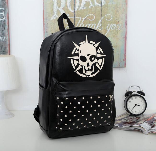 Стильный черный рюкзак с принтом Череп