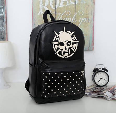 Стильный черный рюкзак с принтом Череп, фото 2
