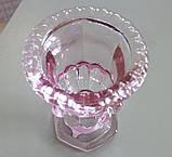 Ваза Виолетсветло- розовое стекло h14см 1008751-3 светло-роз, фото 2