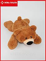 Лежачий маленький медведь 45 см умка коричневый, фото 1