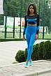 Спортивні Жіночі Лосини Classic Blue Високий Пояс, фото 2