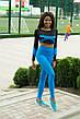 Спортивні Жіночі Лосини Classic Blue Високий Пояс, фото 3