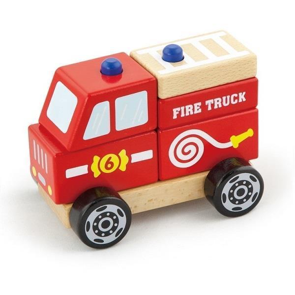 """Детская деревянная игрушка Viga Toys """"Пожарная машина"""" (50203)"""