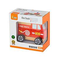 """Детская деревянная игрушка Viga Toys """"Пожарная машина"""" (50203), фото 2"""