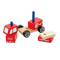 """Детская деревянная игрушка Viga Toys """"Пожарная машина"""" (50203), фото 3"""