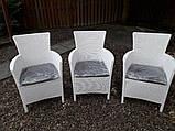 Набір садових меблів Montana Iowa Melody Quartet Garden Set White ( білий ) з штучного ротанга, фото 3