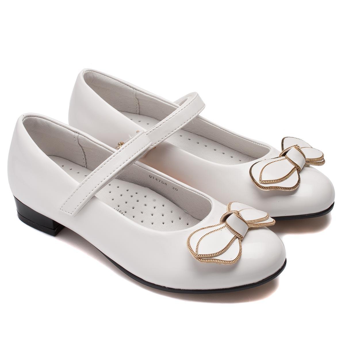 a05525a65 Нарядные школьные туфли Flamingo, белые, для девочек, размер 28-33 ...