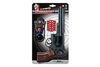 Игрушечный пистолет на пульках Edison Giocattoli Ron Smith 28см 8-зарядный с мишенью (463/33), фото 1