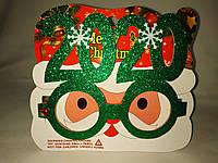 Очки для новогодней фотосессии зеленые