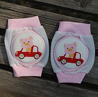 Наколенники для девочек с мягкими подушечками Хрюшка в машине (01303)