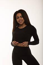Спортивный женский топ рашгард Black, фото 2