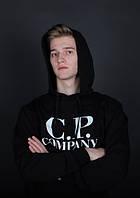 Худи черная | толстовка CP company logo