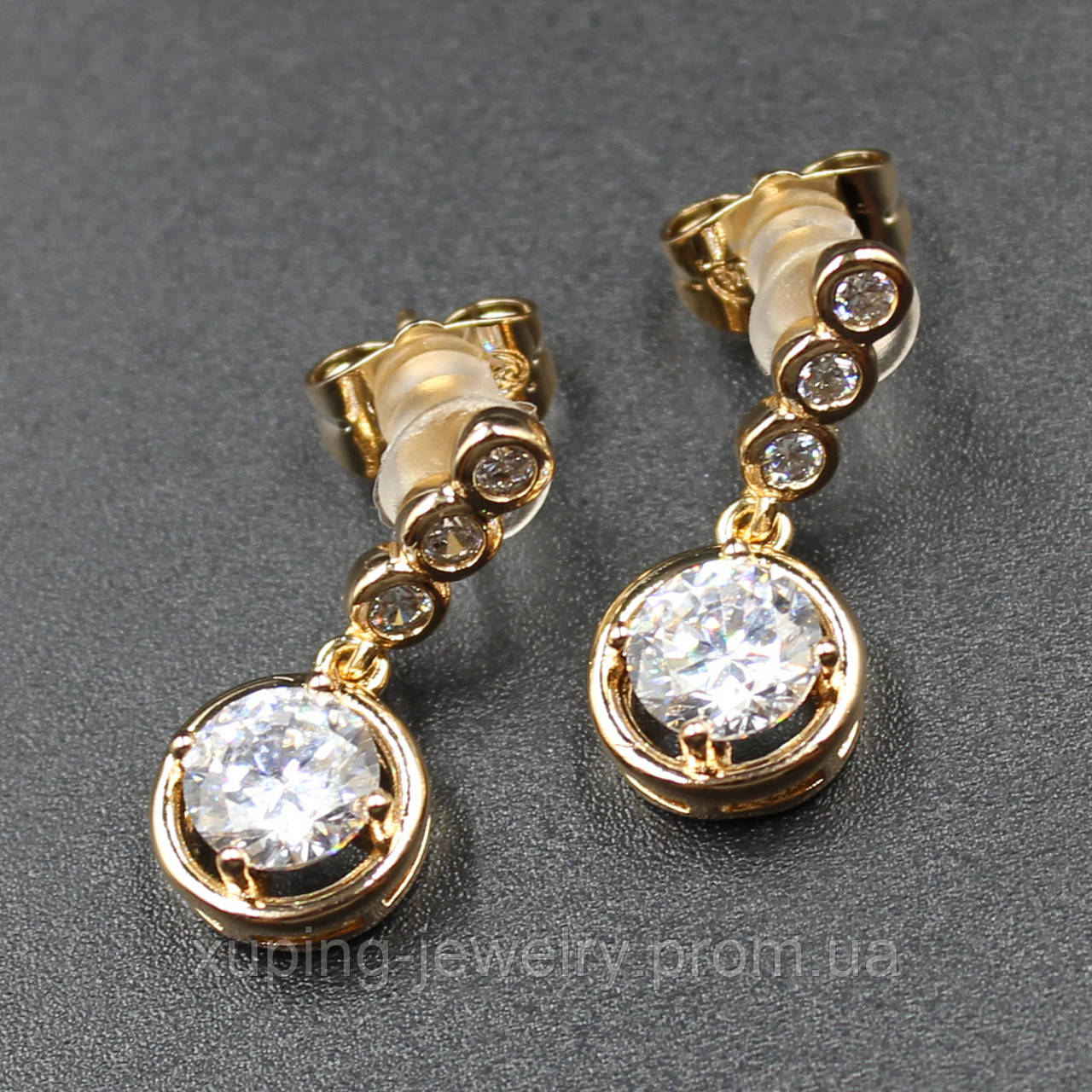 "Серьги женские ""Averroa"" Xuping Jewelry (позолота)."
