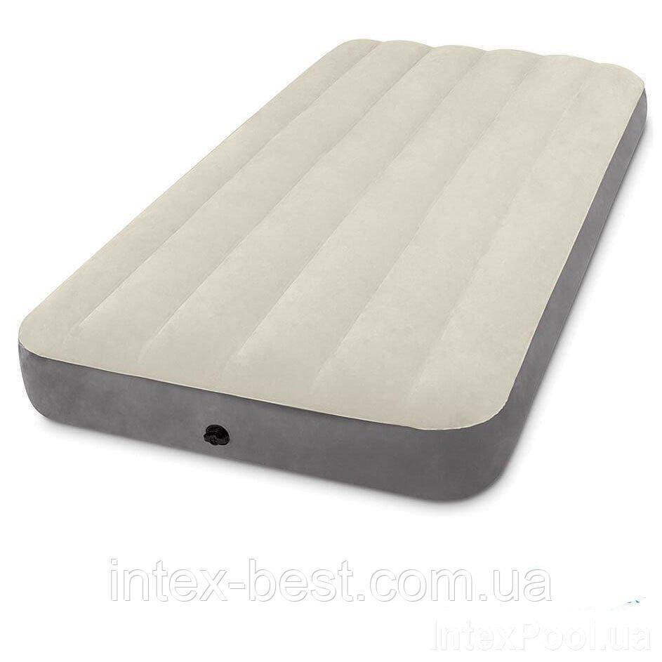 Надувной матрас велюровый Intex 64102 (137-191-25 см)