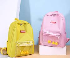 Стильні жіночі рюкзаки з качечками, фото 3