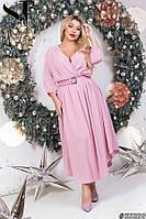 Нежное шифоновое платье миди Размер 50 52 54 56 В наличии 3 цвета, фото 1