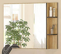 Зеркало Вероника МЕБЕЛЬ-СЕРВИС Зебрано + Венге темный (78х100х11.8 см)